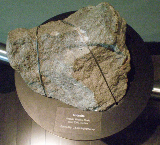 light brown andesite