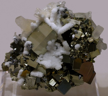 pyrite and calcite