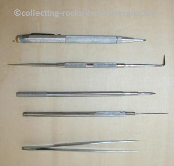 scratcher, tweezer, etcher, chisel